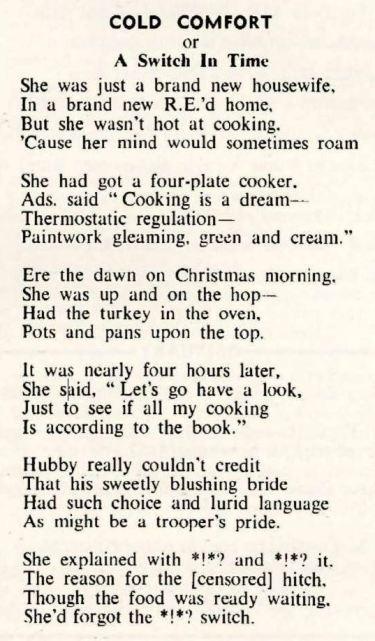 REO News, December 1952, 'Cold Comfort'