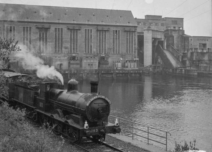 IRRS train leaving Ardnacrusha power station, 1 September 1962