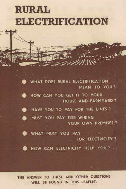 Rural electrification pamphlet
