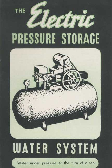 The electric pressure storage water system
