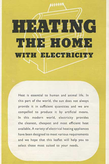Heating the home with electricity