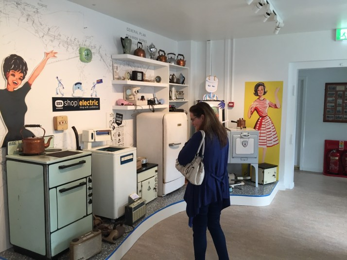 vintage ESB electric appliances on display