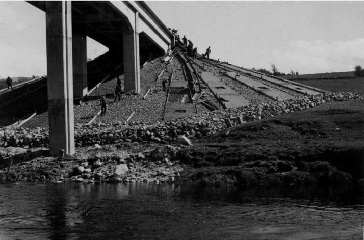Blessington Bridge Left Bank April 1940