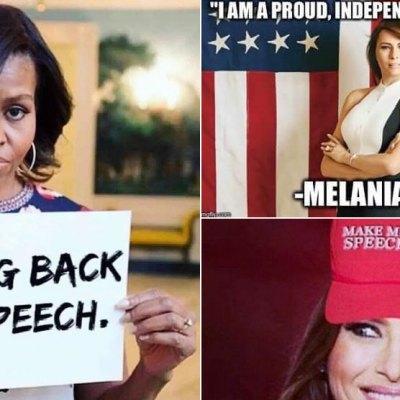 """#MelaniaTrump: Solo hay algo más gracioso que su discurso """"copiado"""", los memes"""