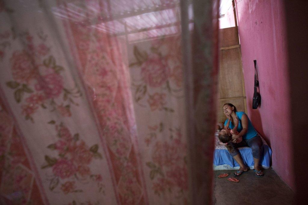 Wendy Jiménez, una hondureña que busca asilo en México.