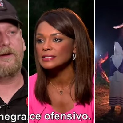 Líder del Ku Klux Klan amenaza de muerte a la reportera Ilia Calderón e inmigrantes en plena entrevista