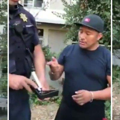 #WTF: Cachan a policía sacando dinero de su cartera a un vendedor de hot dogs