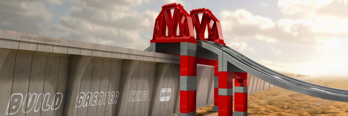 #Puentes: Mira Trump, LEGO ya nos dio la solución para tu horrendo muro