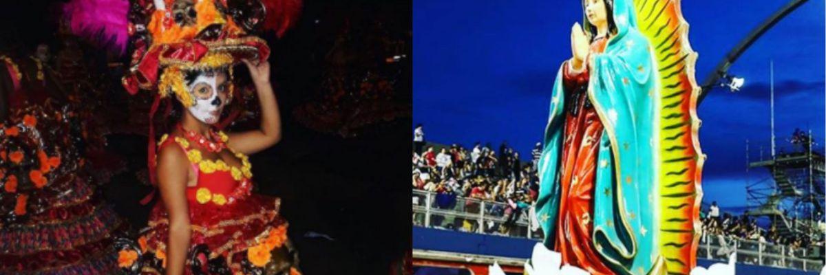 Homenaje a México en Carnaval de Sao Paulo en Brasil
