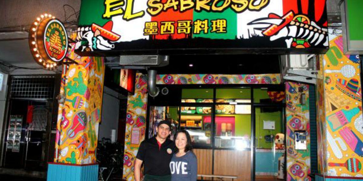 Tacos mexicanos en Taiwán