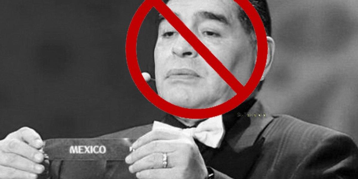 #Ardido: Maradona ataca duro a México y dice que no merece organizar el Mundial