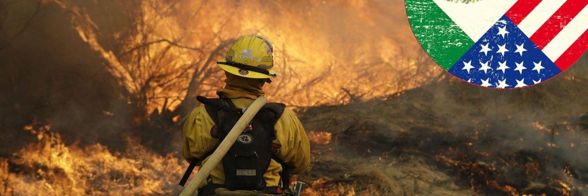 #Héroes: Inmigrantes mexicanos combaten incendio gigante en condado pro-Trump