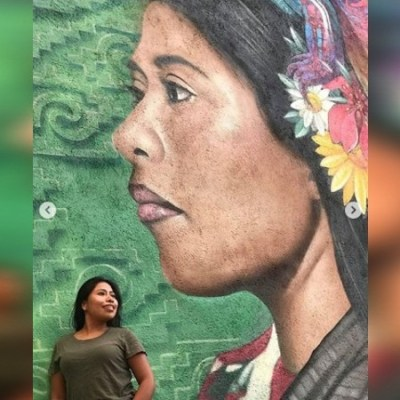 Mexicanos crean mural en honor a Yalitza Aparicio