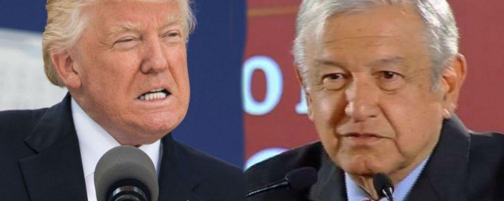 AMLO da 'cachetada con guante blanco' a Trump tras mensajes contra México