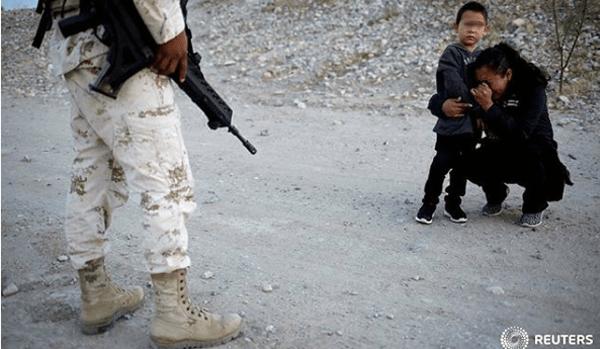 Lo que pasó con la migrante y su hijo que lloró ante un militar de la Guardia Nacional