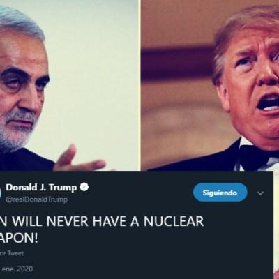 Trump lanza nuevo señalamiento en contra de Irán; ellos piden recompensa por cabeza del mandatario