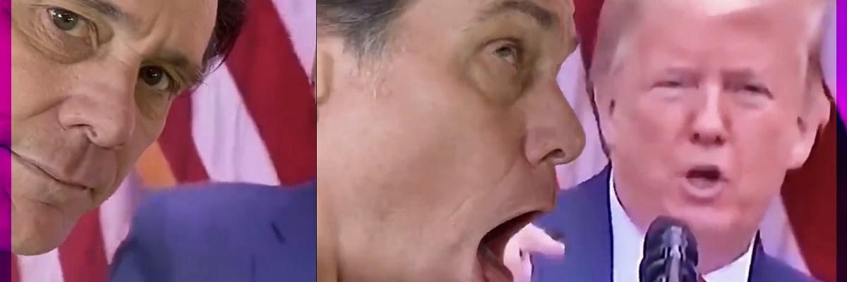 """#Tómala: Jim Carrey le """"escupe"""" a Donald Trump por discurso sobre Obama"""