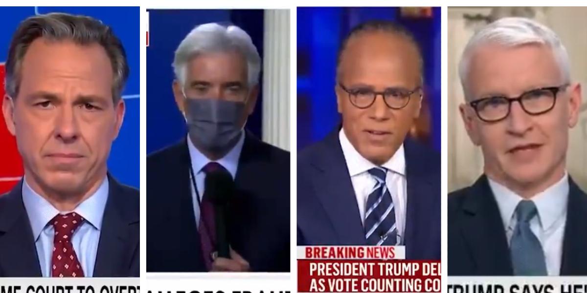 """Varias televisoras en EU interrumpen discurso de Trump y desmienten sus """"fake news"""" que alegan fraude en las elecciones"""