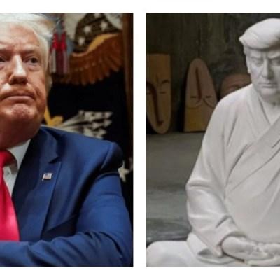 """Chinos sacan a la venta un """"Trump buda"""" y son un éxito"""
