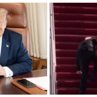 Trump pone en duda la salud mental de Biden tras caída en avión