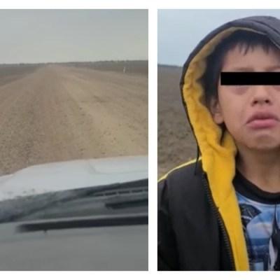 Niño migrante pide ayuda porque lo dejaron abandonado en la frontera