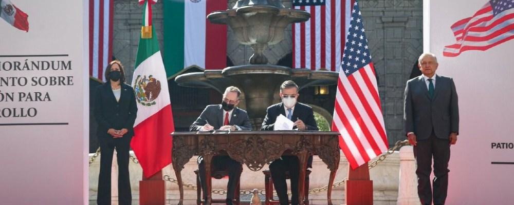 México y EU firman acuerdo de cooperación durante la visita de Harris