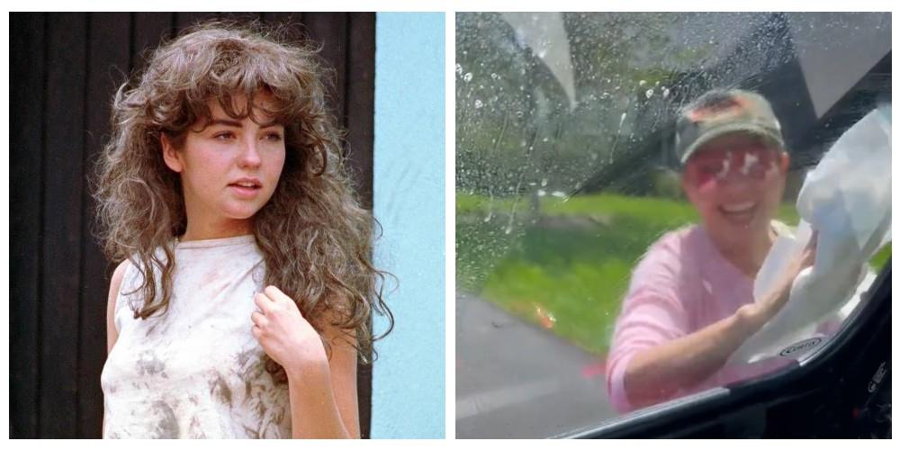 Thalía recuerda su personaje de María Mercedes y se pone a limpiar autos