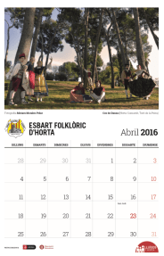 Calendari 2016 - Abril - Esbart Folklòric d'Horta
