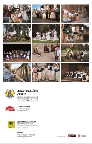 Contraportada Calendari 2016 - Esbart Folklòric d'Horta