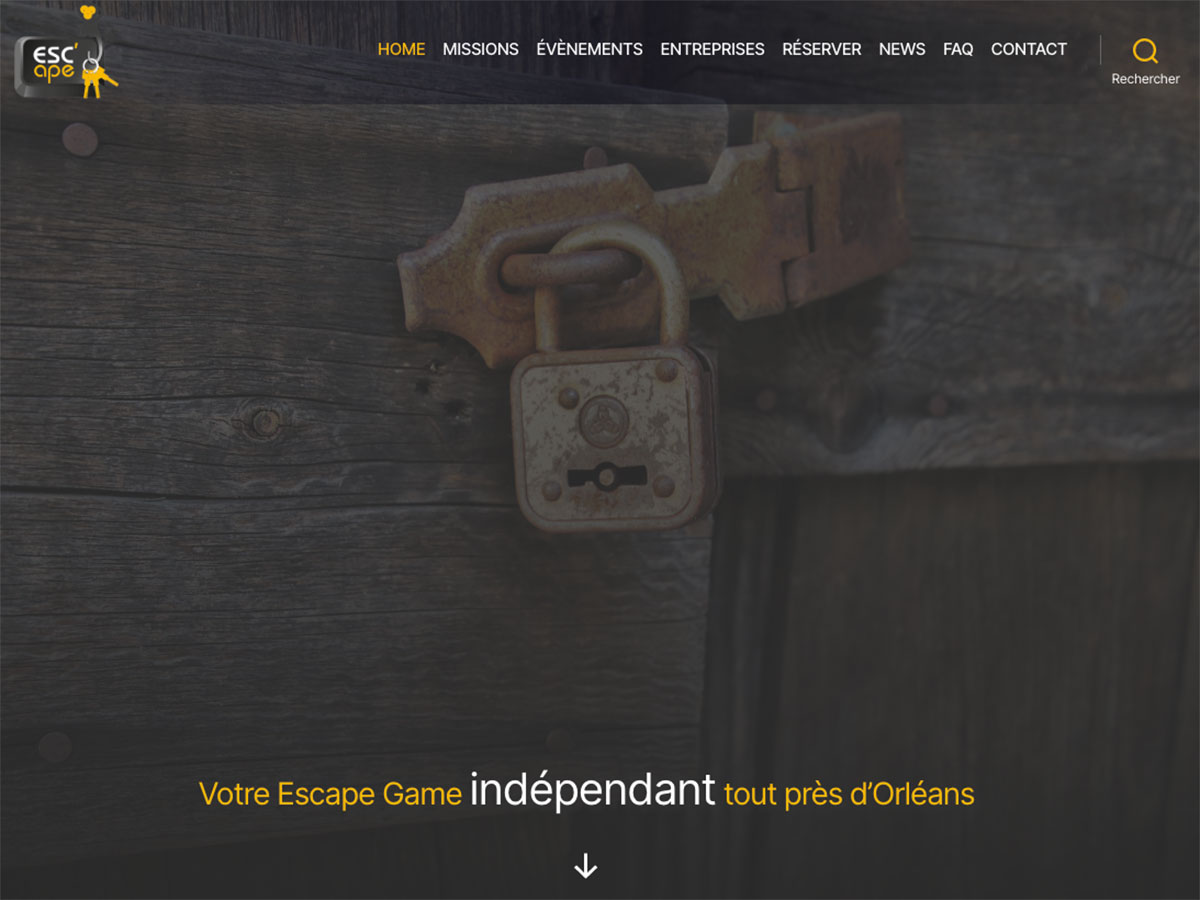 Nouveau site Internet Escape Game Orléans