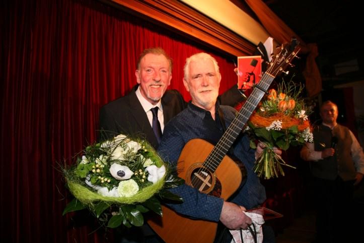 WM OGAE Clubtreffen 2018 Wirtshaus zum Isartal Paul Harrington und Charlie McGettigan on stage