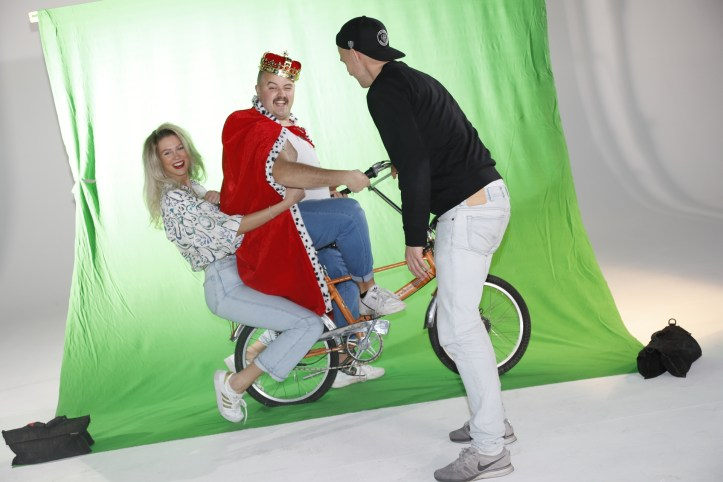 DHG Mr Mercury Videodreh Regieanweisung für King und Queen on bike