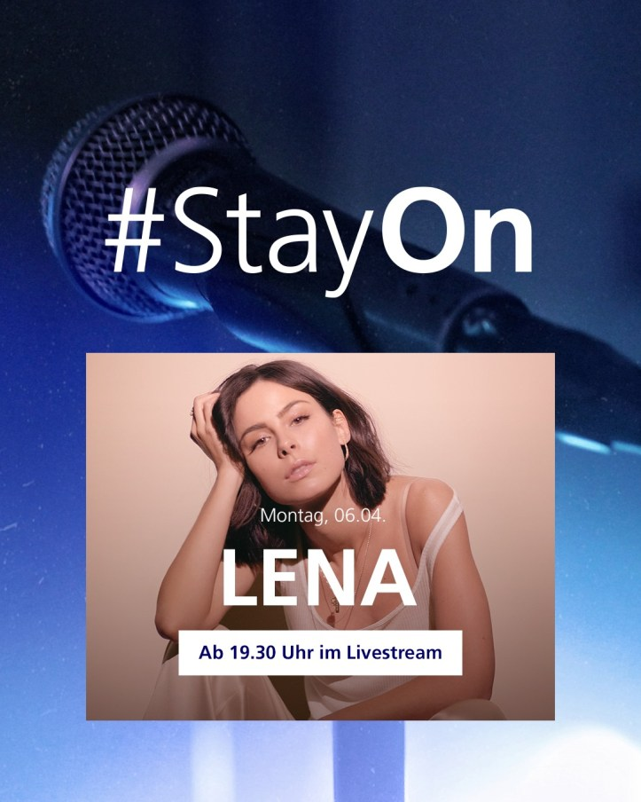Lena #StayOn o2 Festival ESC eurovision 6. April