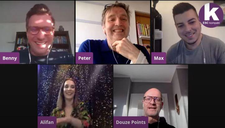 Blogger ESC kompakt LIVE Alina Stieger Peter Douze Points Max Benny