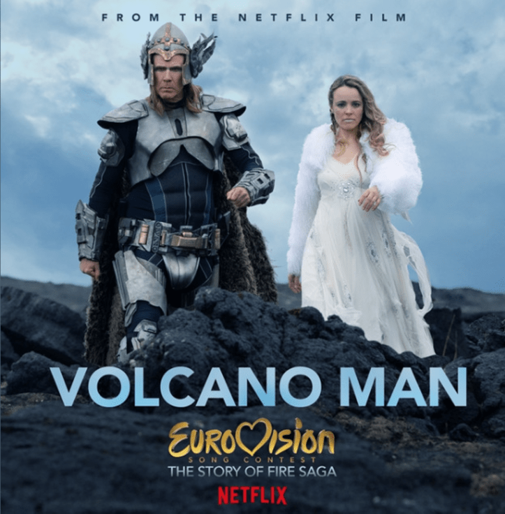 Netflix Eurovision Song Contest The Story of Fire Saga Volcano Man Cover Soundtrack