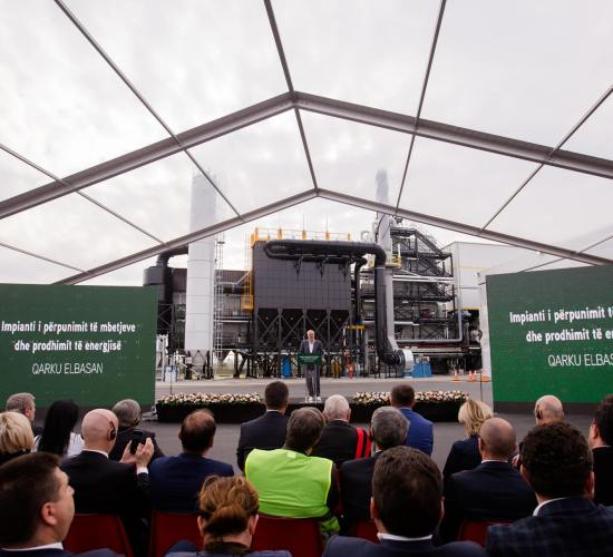 Nga fushë plehrash në impiant të përpunimit të mbetjeve e prodhimit të energjisë. Vepër unike në vend, Kryeministria, 18 Prill 2017