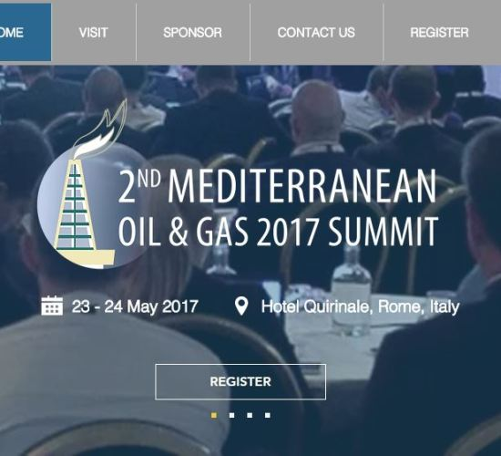 2nd Mediterranean Oil & Gas 2017 Summit by IRN, 23 – 24 May 2017, Hotel Quirinale Rome, Italy