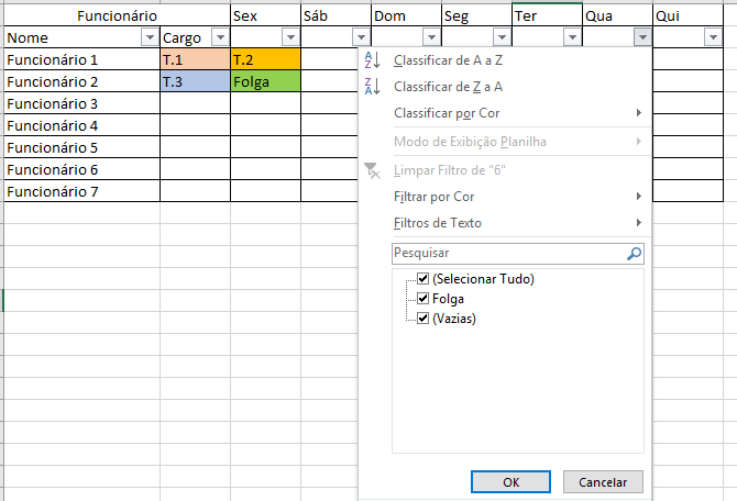 Planilha escala de trabalho 2