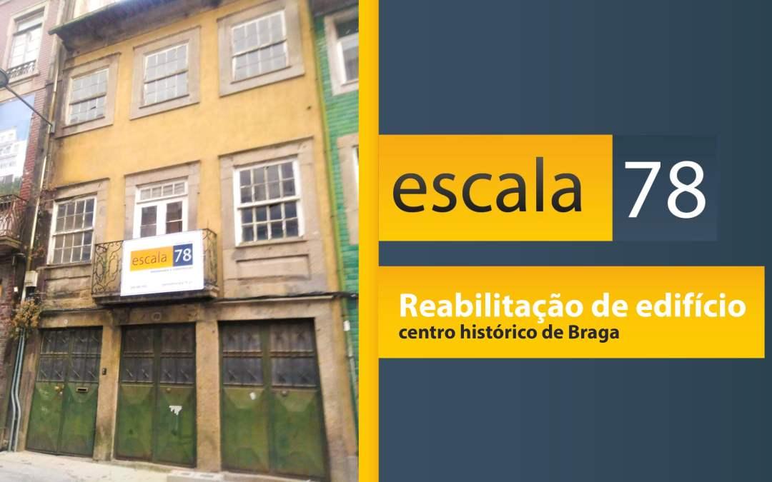 Reabilitação de edifício no centro de Braga