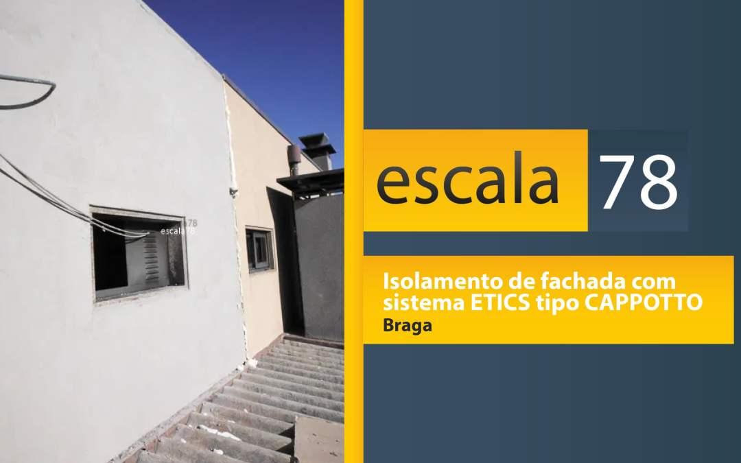 Isolamento de fachada com  sistema ETICS tipo CAPPOTTO