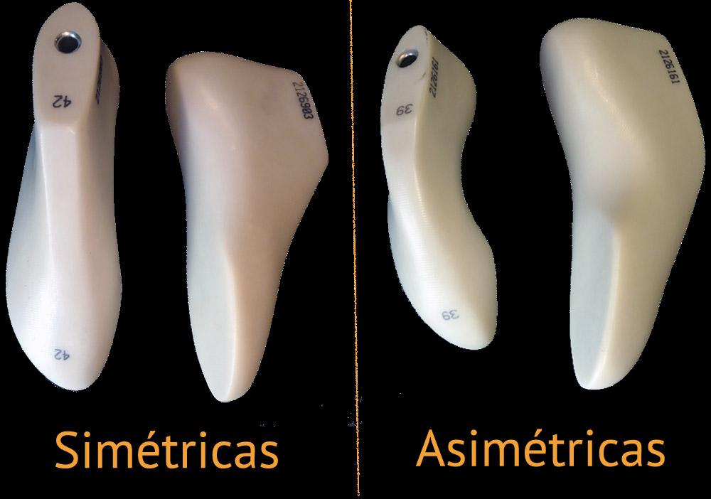 Hormas empleadas para la sustitución de las suelas en el resolado de un pie de gato