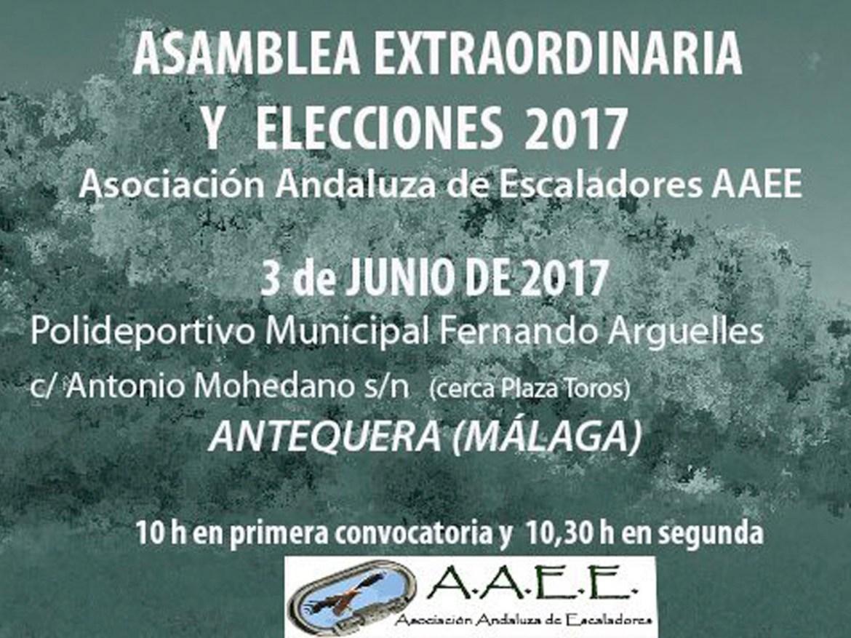 Asamblea extraordinaria y elecciones AAEE 2017