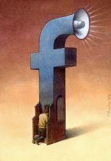 FIGURA 232a - Ilustração do polaco Pawel Kuczynski em sátira ao Facebook