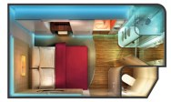 Norwegian Epic - Studio plan cabine