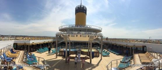 Costa Magica - Ponts supérieurs solariums
