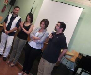 """Francesco Del Grosso (regista di """"Fuoco amico"""") e la famiglia Cervia"""