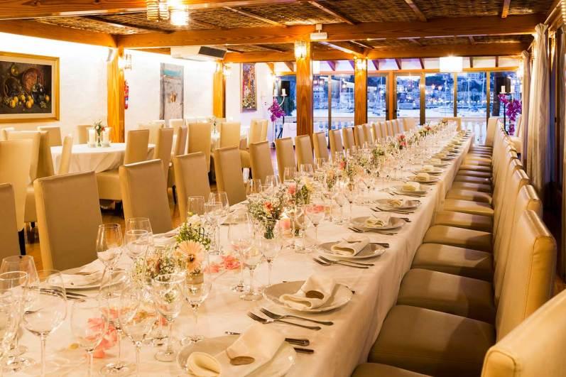 restaurant es canyis mesa para banquete boda