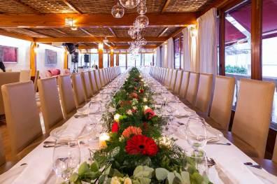 mesa banquete restaurante es canyis