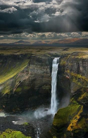 Cascada Haifoss Islandia