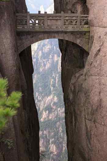 el puente de los inmortales en huangshan